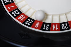Close view of casino roulette Royalty Free Stock Photo