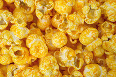 Close view cheese flavored popcorn Royalty Free Stock Photography