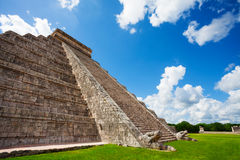 Close view of Chichen Itza monument in Mexico Stock Image
