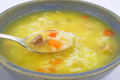 Close view of chicken soup Stock Image