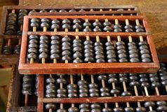 The close view of Chinese abacus Royalty Free Stock Image