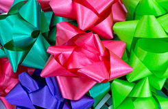 Close view of Christmas bows Stock Photos