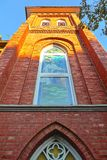 The close view of church window. In Taipei Royalty Free Stock Image