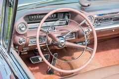 Close view of a classic car dashboard Royalty Free Stock Photography