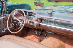 Close view of a classic car dashboard Royalty Free Stock Image
