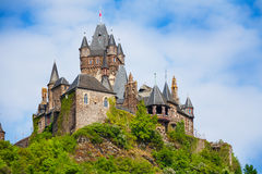 Close view of Cochem Imperial castle Stock Image