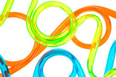 Close view colorful tubing Stock Photo