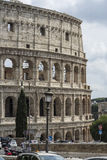 Close view of Colosseum on a sunny day. Rome, Italy. Royalty Free Stock Photos