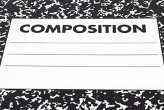 Close view composition notebook cover Stock Photography
