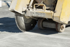 Close view of a concrete cutting machine Stock Photos