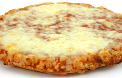 Close view of cooked personal size cheese pizza Stock Photos
