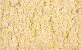 Close view of corn muffin mix Royalty Free Stock Photos