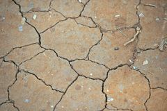 CLOSE VIEW OF CRACKED SURFACE OF DRY MUD Royalty Free Stock Photography