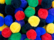 Close view of craft pompoms Stock Photos