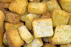 Close view croutons Stock Photography