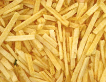 Close view crunchy shoestring potatoes Stock Image