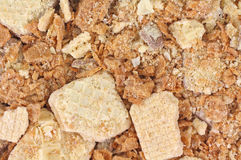 Close view of crushed cookies Stock Image