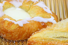 Close view danishes Royalty Free Stock Photography