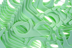 Close view dental floss picks Royalty Free Stock Photography