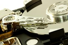 inside a computer harddisk Royalty Free Stock Photos