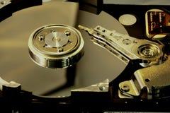 inside a computer harddisk Stock Photos