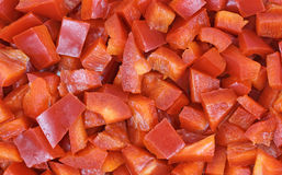 Close View Diced Red Fresno Pepper Royalty Free Stock Photography