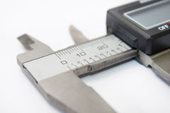 Close view of digital caliper Royalty Free Stock Photography