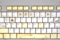 Close view dirty keyboard Royalty Free Stock Images