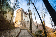 Close view of Dracula Castle with stoned path Stock Image