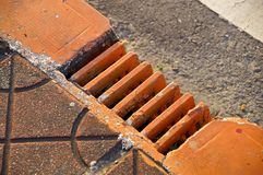 The close view of drainage holes Stock Photo