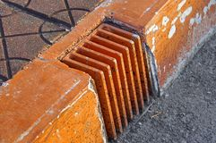 The close view of drainage holes Royalty Free Stock Image