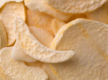 Close view of dried peach slices Royalty Free Stock Image