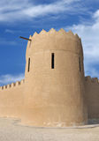 Close view of the eastern tower of Riffa Fort Royalty Free Stock Photo