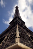 Close view of the Eiffel Tower. Close angle view of Eiffel tower. France, Paris Stock Images