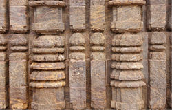 Close view of the exquisite columnar carving Stock Image