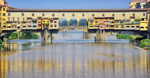 Close view of famous Old Bridge in Florence Stock Image