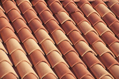 Close view of famous red rood tiles in Dubrovnik Stock Photo