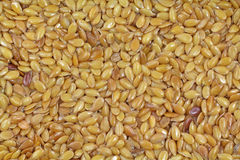 Close View Flax Seeds Royalty Free Stock Images