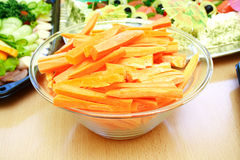 Close view of fresh sliced carrots Stock Photos