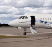 Close view of the front of a private jet Stock Image