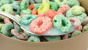 Close View Fruit Flavored Cereal Stock Photography
