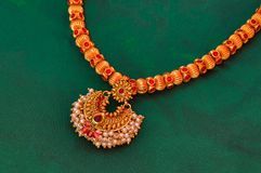 Gold necklace, Pune. Close view of Gold necklace at Pune Royalty Free Stock Image