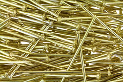 Close view of gold sequin pins Stock Photography