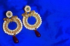 Golden earrings, Pune. Close view of Golden earrings at Pune Stock Photography