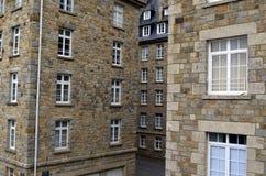 Close view of granite buildings of Saint-Malo in Brittany, France. Close view of granite buildings of Saint Malo in Brittany, France royalty free stock image