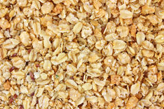 Close view of granola cereal Royalty Free Stock Photos
