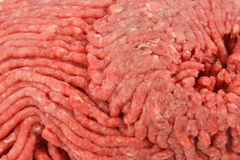 Close view of ground beef Royalty Free Stock Photos