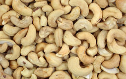 Whole Unsalted Cashews up Close Stock Image