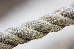 Grungy Old Rope Stock Photo