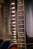 Close view of guitar fretboard Royalty Free Stock Image